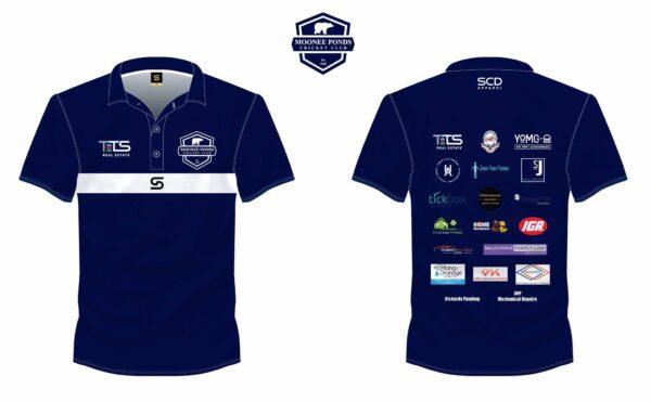 Social Polo Shirt Front & Back