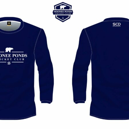 Blue Long-Sleeved Tee Front & Back