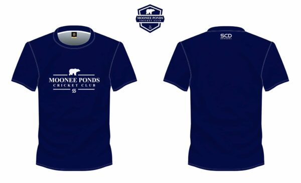 Blue Tee Front & Back