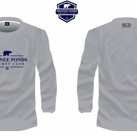 Grey Long-Sleeved Tee Front & Back